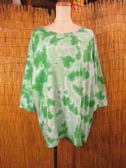 画像1: タイダイ染め*コットン素材*ゆったりサイズ*七分袖Tシャツ