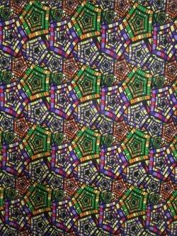 画像1: アフリカンプリント生地 パーニュ
